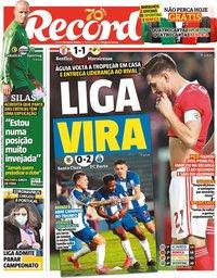 capa Jornal Record de 3 março 2020