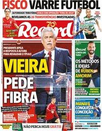 capa Jornal Record de 5 março 2020
