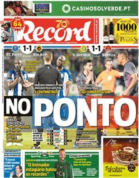 capa Jornal Record de 8 março 2020