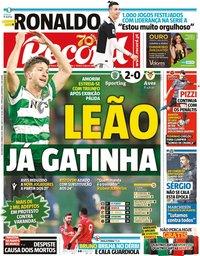 capa Jornal Record de 9 março 2020