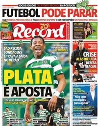 capa Jornal Record de 10 março 2020