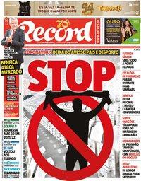 capa Jornal Record de 11 março 2020