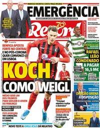 capa Jornal Record de 19 março 2020