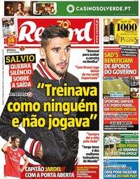 capa Jornal Record de 22 março 2020