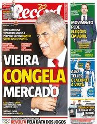 capa Jornal Record de 24 março 2020