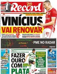 capa Jornal Record de 27 março 2020