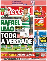 capa Jornal Record de 31 março 2020