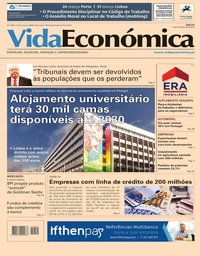 capa Jornal Vida Económica de 13 março 2020