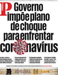 capa Público de 13 março 2020