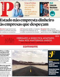 capa Público de 21 março 2020
