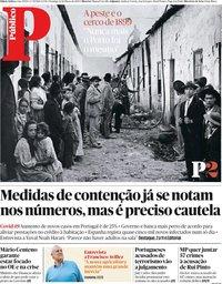 capa Público de 22 março 2020