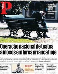 capa Público de 30 março 2020
