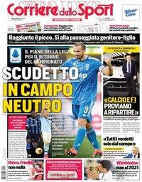 capa Corriere dello Sport de 1 abril 2020
