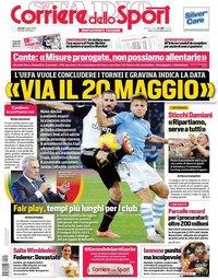 capa Corriere dello Sport de 2 abril 2020