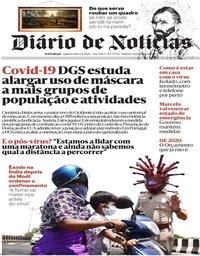 capa Diário de Notícias de 1 abril 2020