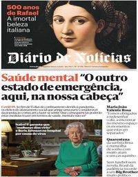 capa Diário de Notícias de 6 abril 2020