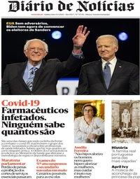capa Diário de Notícias de 9 abril 2020