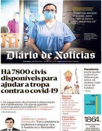 capa Diário de Notícias de 11 abril 2020