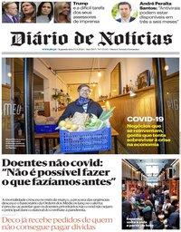 capa Diário de Notícias de 13 abril 2020