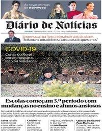 capa Diário de Notícias de 14 abril 2020