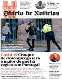 capa Diário de Notícias de 15 abril 2020