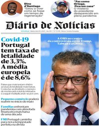 capa Diário de Notícias de 16 abril 2020