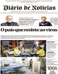 capa Diário de Notícias de 18 abril 2020