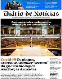 capa Diário de Notícias de 20 abril 2020