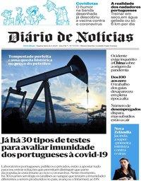 capa Diário de Notícias de 22 abril 2020
