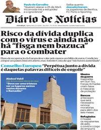 capa Diário de Notícias de 23 abril 2020
