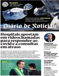 capa Diário de Notícias de 24 abril 2020