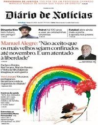 capa Diário de Notícias de 25 abril 2020