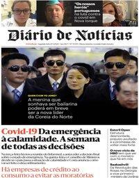 capa Diário de Notícias de 27 abril 2020