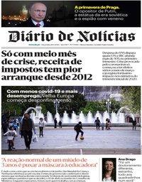 capa Diário de Notícias de 28 abril 2020