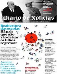 capa Diário de Notícias de 29 abril 2020