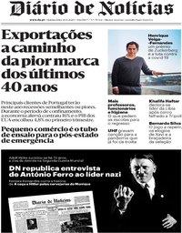 capa Diário de Notícias de 30 abril 2020