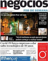 capa Jornal de Negócios de 3 abril 2020