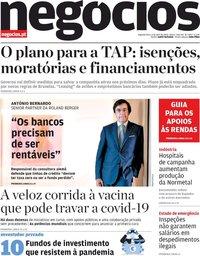 capa Jornal de Negócios de 6 abril 2020