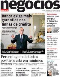capa Jornal de Negócios de 7 abril 2020