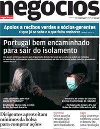 capa Jornal de Negócios de 8 abril 2020