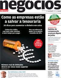 capa Jornal de Negócios de 13 abril 2020