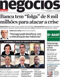 capa Jornal de Negócios de 16 abril 2020