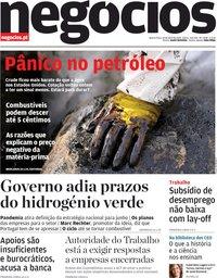 capa Jornal de Negócios de 22 abril 2020