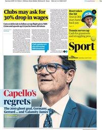 capa Jornal Guardian Sport