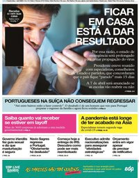 capa Jornal i de 1 abril 2020