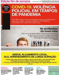 capa Jornal i de 3 abril 2020
