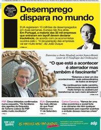 capa Jornal i de 6 abril 2020