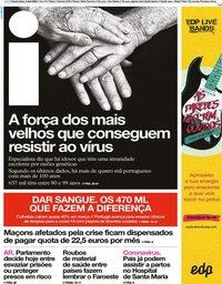 capa Jornal i de 8 abril 2020