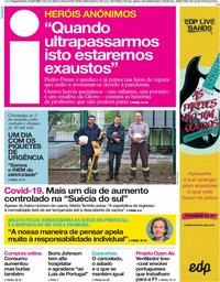 capa Jornal i de 13 abril 2020