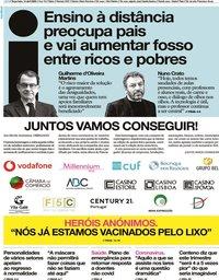 capa Jornal i de 14 abril 2020